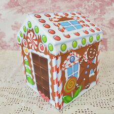 "Gingerbread House Treat Box Christmas Gift Box 5"" x 5"" x 7"" tall"