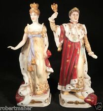 An Antique Pair of French Porcelain Figures Napoleon and Josephine MAKE AN OFFER