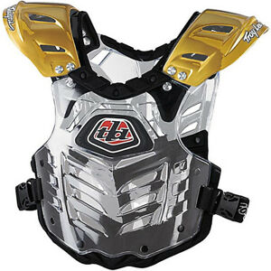 Troy Lee Designs Bodyguard Gold/Clear Chest Protector YOUTH L/XL NEW