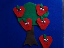 Five Little Apples Felt set for the Story Board