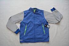 Men's Under Armour Waterproof Rain Running Jacket Storm Gear Blue Gray $149 MSRP
