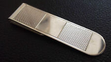 New Stunning Sterling Silver money clip Patterned Hallmarked, Birthday Gift