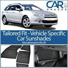 Citroen C5 Estate 08 On UV CAR SHADES WINDOW SUN BLINDS PRIVACY GLASS TINT BLACK
