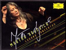 Martha ARGERICH Signed LUGANO CONCERTOS 4CD Beethoven Poulenc Prokofiev Milhaud