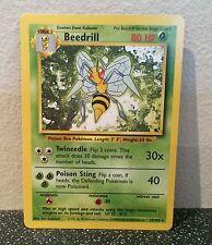POKEMON BEEDRILL CARD GREEN NINTENDO TRADING CARD GAME 17/102 RARE COLLECTABLE