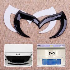3D Black Bat Batman Car Front Rear M Emblem Badge Sticker Decal For Mazda 3 5 6