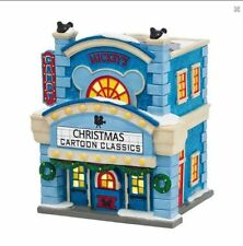 Dept 56 Disney Christmas Village Mickey Mouse Cinema 4038630 Theatre RETIRED