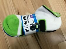 Stride Rite Me1511018-7307 Half-cushioned No Show 8 Pair Boys Socks Sz L