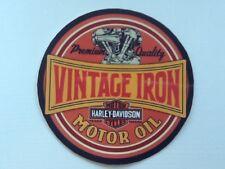 sticker autocollant motor oil HARLEY DAVIDSON  VINTAGE  8 cm