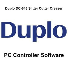 Duplo DC-646 Slitter/Cutter/Creaser PC Controller Software (Comes on CD)