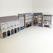 More details for 1/76 card oo gauge pack of 5 town buildings (set 011)