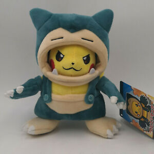 "New 8"" Pretend Cosplay Snorlax Cape Pikachu Plush Soft Toy Teddy Doll UK"