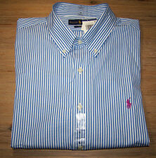 Ralph Lauren Slim Fit Striped Mens Button-Down Shirt Size XL NEW