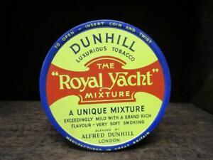 1960's Circa DUNHILL Luxurious Tobacco Tin  The Royal Yacht Mixture Alfred Dun