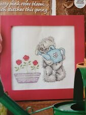 Tatty Teddy Watering the Flowers Cross Stitch Chart only