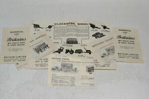 BRITAINS 1954 POCKET NUMERICAL & LILLIPUT LISTS (6)