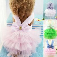 Pet Dog Summer Tutu Dress Puppy Princess Skirt Clothes Harness Dress Outfits