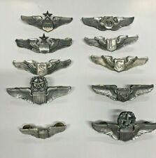 More details for collection of us air force wings - sterling silver - 10 in total