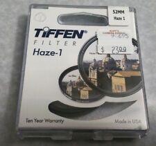 52mm TIFFEN UV HAZE 1 Coated Lens Filter Safety Protector OEM Genuine USA 52 mm