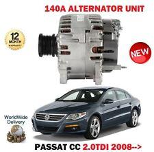 FOR VW VOLKSWAGEN PASSAT CC 2.0 TDI + BLU 2008-> 140A AMP ALTERNATORE UNITÀ