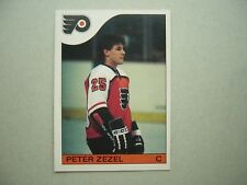 1985/86 O-PEE-CHEE NHL HOCKEY CARD #24 PETER ZEZEL ROOKIE NM SHARP!! 85/86 OPC