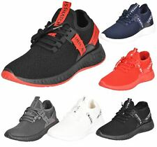 Crosshatch Mens Trainers Lace Up Mesh Upper Runners Chunky Outsole Ceaze Shoes