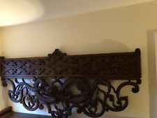 More details for large wooden carved seaserpent / dragon wall hanging frieze /bed back 7ft wide
