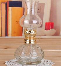 New White Classic gAntique Oil / Kerosene Craft Stand Lamp Glass Picnic Camping