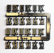 "3/8"" Tall Roman Numerals 3,6,9,12 For Use On Clocks 18 sets"