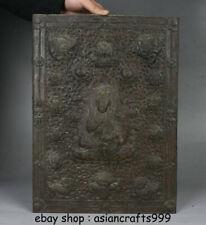 """15,8 """"Tibet Buddhismus Bronze Guru Padmasambhava Buddha Thangka Wand hängen"""