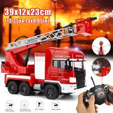 RC ferngesteuertes Feuerwehr mit Licht Sirene Wasserspritz Akku Ladegeräte Toys
