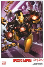 Greg Land Signed Marvel Comics Avengers Comic Art Print ~ Iron Man
