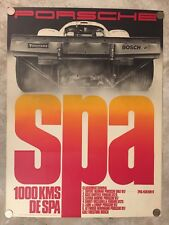 1970 Porsche 917 1000 KM Spa Victory Showroom Advertising Poster RARE!! Awesome