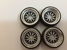 """1/18 scale Modified Tuning REAL ALUMINIUM 18""""BBS-Y WHEELS in SILVER"""