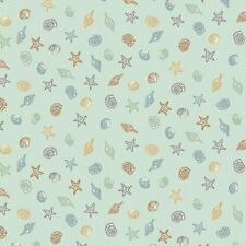Beachcomber TP 1994-1 Green Shells Cotton Quilt Fabric Andover BTY