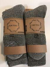 Men heavy duty PRIME Merino Wool Socks 4 Pack for winter, ski & trailing