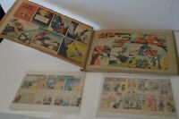 Superb Collection Sunday Newspaper Comic Strips Lot 1940's 50's 60's Vintage