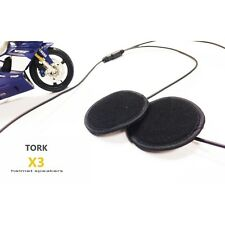 Tork X3 Stereo Motorcycle Helmet Speakers Snow Skiing Snowboard Snowmobile