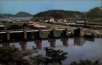 Panama Mittelamerika AK ~1960/70 Canal Kanal Miraflores Locks Panorama Totale