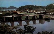 Panama America centrale AK ~ 1960/70 Canal canale Miraflores Locks Panorama Totale