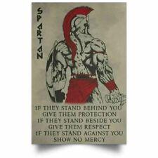 Warrior Spartan Poster Motivation Quote Prints For Bedroom Living Room