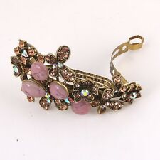 Sparkling beautiful Antique rhinestone crystal butterfly hair clip barrette 317