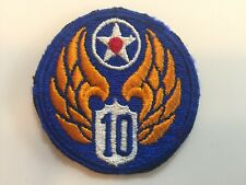 WW2 USAAF 10th Army Air Force CBI fully embroidered patch China Burma India