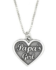 STERLING SILVER PAPA'S GIRL PENDANT NECKLACE