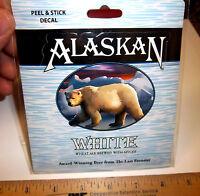 Alaska Brewing Co Alaska White Wheat Ale Peel & Stick Decal sticker