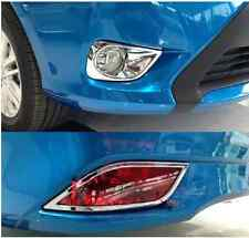 Chrome foglight Front +rear Fog Light cover for TOYOTA YARIS 2014 4dr Sedan