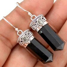 Black Onyx 925 Sterling Silver Earrings Jewelry SE122440