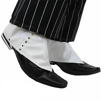 1920's Gangster Shoe Spats Al Capone Don Gentleman White Shoe Boot Covers Gatsby