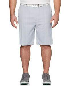 New Callaway Apparel Mens Big & Tall Plaid Short Size 48B Gray Dawn