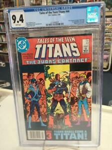 TALES of the TEEN TITANS #44 CGC 9.4 ~ NIGHTWING ~ White Pages